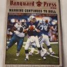 Peyton Manning 2000 Vanguard Press Retail Insert Card