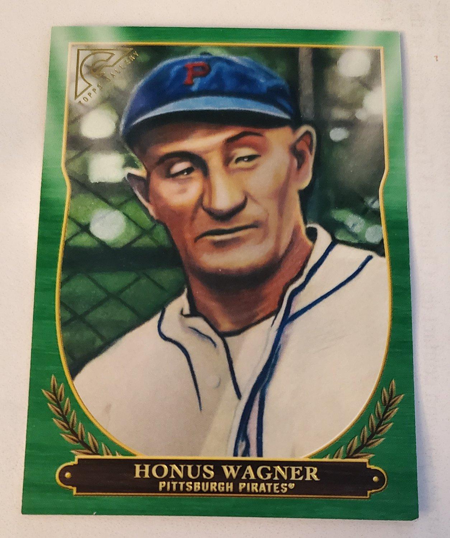 Honus Wagner 2018 Topps Gallery Hall Of Fame Green SN 160/250 Insert Card