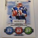 Tom Brady 2010 Topps Attax Code Cards Insert Card