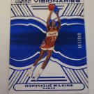 Dominique Wilkins 2015-16 Clear Vision Visionaries Blue SN 40/149 Insert Card