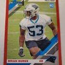 Brian Burns 2019 Donruss Press Proof Red Rookie Card