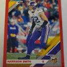 Harrison Smith 2019 Donruss Press Proof Red Insert Card