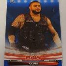Akam 2019 Topps WWE Raw Blue SN 1/99 Insert Card