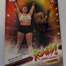 Ronda Rousey 2019 Topps WWE Rousey Spotlight Insert Card