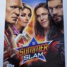 Brock Lesnar, Bliss, Rousey, & Reigns 2019 Topps WWE Summer Slam Posters Spotlight Insert Card