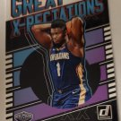 Zion Williamson 2019-20 Donruss Great Xpectations Insert Card