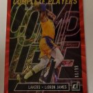 LeBron James 2019-20 Donruss Complete Players Holo Red Laser SN 66/99 Insert Card