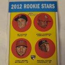 Joe Benson, Corey Brown, Michael Taylor, & Adron Chambers 2012 Topps Heritage Rookie Card