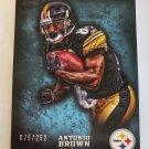 Antonio Brown 2012 Topps Inception Blue SN 75/252 Insert Card