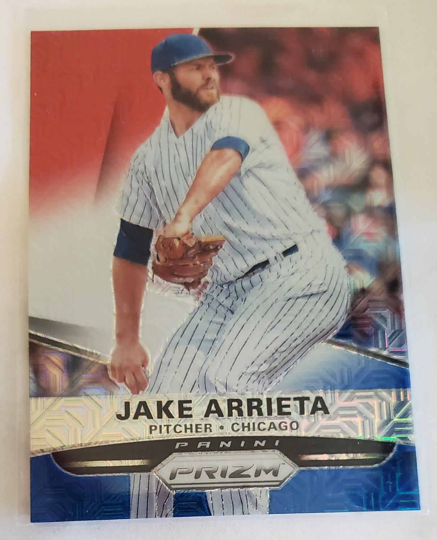 Jake Arrieta 2015 Prizm Prizms Red White Blue Mojo Insert Card