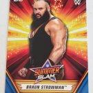 Braun Strowman 2019 Topps WWE SummerSlam Blue SN 63/99 Insert Card