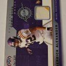 Derrick Alexander 2002 Heads Update SN 76/225 Game Worn Jersey Card
