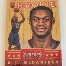 K.J. McDaniels 2014-15 Panini Threads Wood Rookie Card