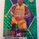 Shaquille O'Neal 2019-20 Mosaic HOF Mosaic Green Insert Card