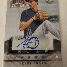 Henry Owens 2015 USA Stars & Stripes Longevity SN 52/299 Autograph Card