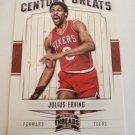 Julius Erving 2012-13 Panini Threads Century Greats Insert Card