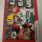 Aaron Rodgers 2020 Score Next Level Stats Red Insert Card