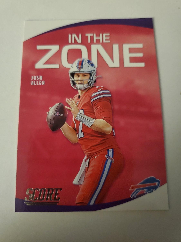 Josh Allen 2020 Score In The Zone Insert Card