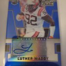 Luther Maddy 2016 Prizm Draft Prizms Blue Rookie Autograph Card
