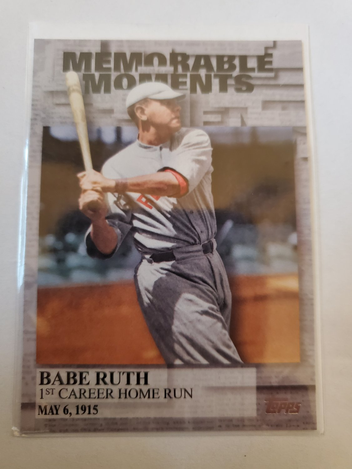 Babe Ruth 2017 Topps Memorable Moments Insert Card