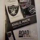 Khalil Mack 2014 Prestige Road To The NFL Insert Card