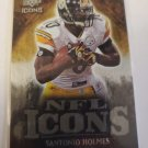 Santonio Holmes 2009 UD Icons NFL Icons Gold SN 39/199 Insert Card