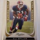 C.J. Spiller 2011 Prestrige Xtra Points Gold SN 191/250 Insert Card