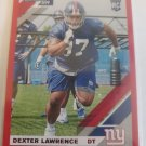 Dexter Lawrence 2019 Donruss Press Proof Red Rookie Card