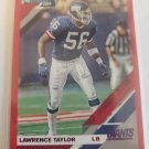 Lawrence Taylor 2019 Donruss Press Proof Red Insert Card