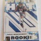 David Montgomery 2019 Donruss White Hot Rookies Insert Card