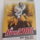 Mike Wallace 2011 Score In The Zone Gold Zone Insert Card