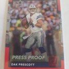 Dak Prescott 2017 Donruss Pess Proof Red Insert Card