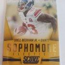 Odell Beckham Jr 2015 Score Sophmore Selections Gold Insert Card