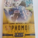 Sammy Watkins 2015 Score Sophmore Selections Gold Insert Card