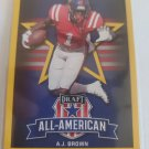 A.J. Brown 2019 Leaf Draft AA Gold Insert Card