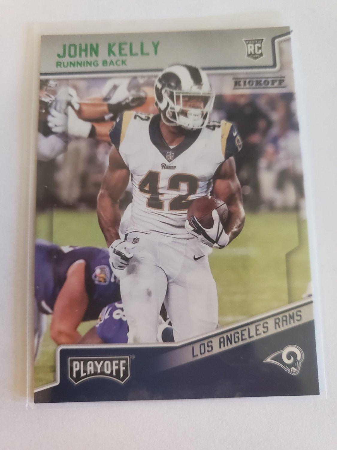 John Kelly 2018 Playoff Kickoff Rookie Card