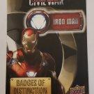 Iron Man 2016 Captain America Civil War Badges Of Distinction Insert Card
