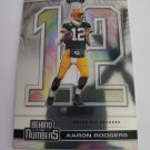 Aaron Rodgers 2020 Playoff Behind The Numbers Insert Card