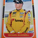 Michael McDowell 2020 Donruss Retro Orange Insert Card