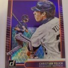 Christian Yelich 2021 Donruss DK Holo Purple Insert Card