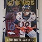 Emmanuel Sanders 2016 Donruss Peyton Manning Top Targets Insert Card