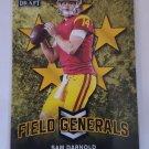 Sam Darnold 2018 Leaf Draft Field Generals Gold Insert Card