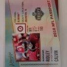 Calvin Ridley 2018 Prestige NFL Passport Insert Card