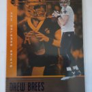 Drew Brees 2019 Illusions Trophy Collection Orange Insert Card
