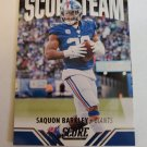 Saquon Barkley 2021 Score Score Team Insert Card