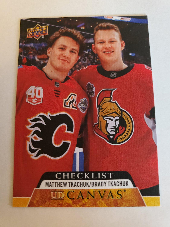 Matthew Tkachuk & Brady Tkachuk 2020-21 Upper Deck CL Canvas Insert Card