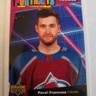 Pavel Francouz 2020-21 Upper Deck UD Portraits Insert Card