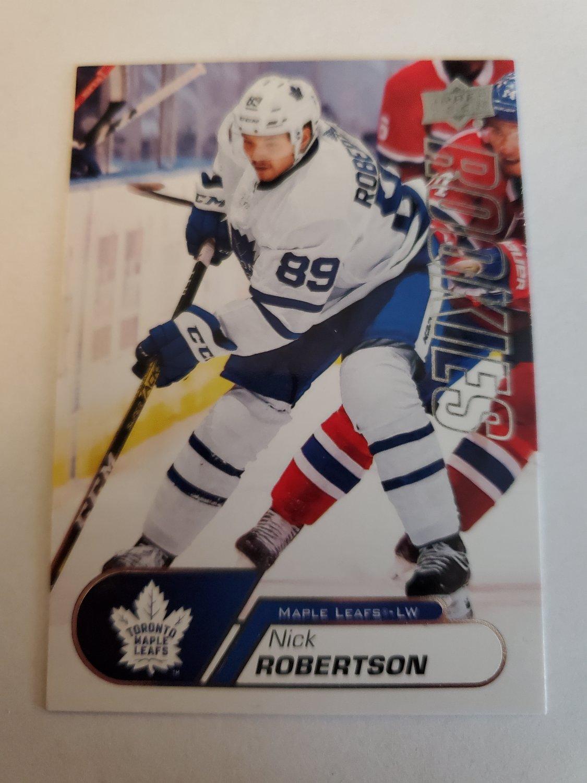 Nick Robertson 2020-21 Upper Deck Rookies Box Set Insert Card