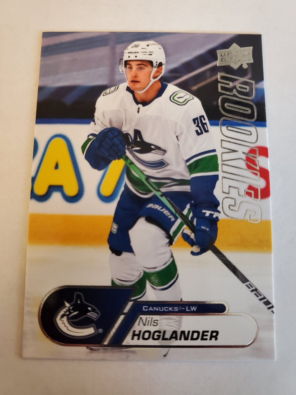 Nils Hoglander 2020-21 Upper Deck Rookies Box Set Insert Card