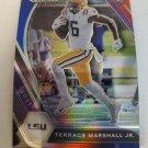 Terrace Marshall Jr 2021 Prizm Draft Picks Prizms Red White & Blue Rookie Card